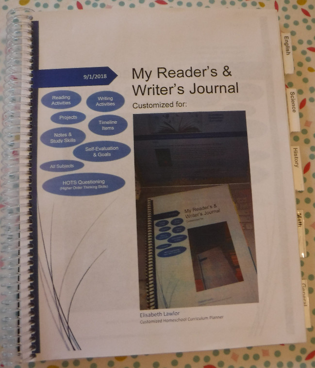 Customized Secular Reader's & Writer's Journal, Customized Homeschool Secular Planner